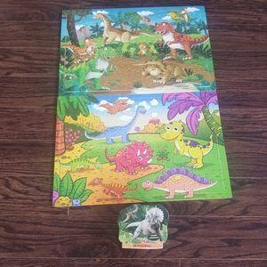 2/15$ 🔥 Dinosaur Puzzles 3 Wood Puzzle Dino Kids